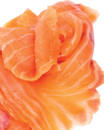lox, salmon, sliced salmon